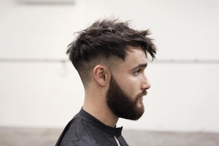Choppy messy hairstyle